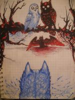 boredom at school 15 'Blue Life Red Death' by sidemoon
