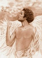 Michael Singing In Heaven by CezLeo
