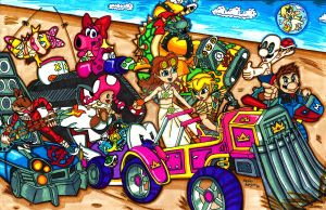 Mario Kart: Fury Road by ToughSpirit