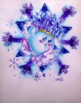 Ice kirby by megadaisy1