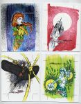 sketch cards dangerous divas22 by TomKellyART