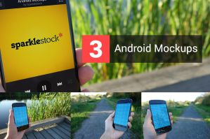 3 Realistic Android Mockups by pstutorialsws
