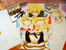 My Fanarts with March by haru4lavi