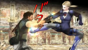 Resident Evil - Jill The One And Only w/ particles by MeguidoCrimsonFlame