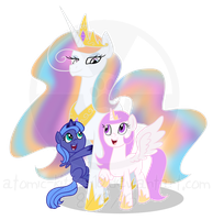 (G) Queen Aurora and Her Daughters by atomic-kitten10