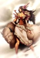 White Buffalo Woman by GENZOMAN