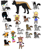 Free Adoptables -CLOSED, ALL TAKEN- by Twine-Adopts