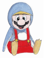 Penguin Mario :D by genehayes