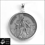 Limited Edition Odin Silver Coin Pendant by GoodSpiritWolf