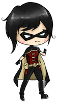 :chibi: Robin Young Justice by Yeleena