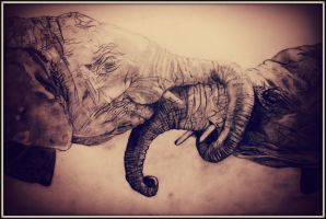 Lovely Elephants by LinaMile