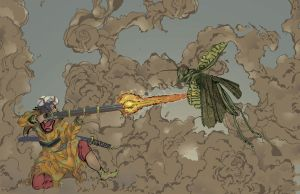 chih jung vs grasshopper by wukungsun