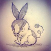 Tepig Sketch by broopimus
