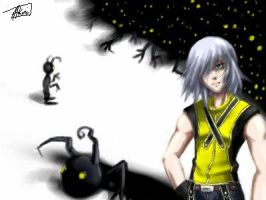 Riku and the shadows by omittchi
