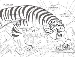 Brahmin and the Tiger spread 03 pencils by Douglasbot