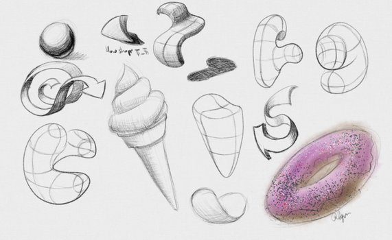 Daily Sketches - 17 April 2016 by RhynnCollins