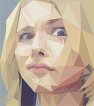 Chloe Moretz (low poly) by cheshirski