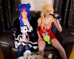 panty and stocking cosplay by vampirecat696