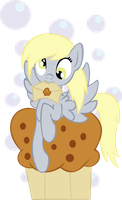 Derpy got you a mail and a muffin by Ookami-95