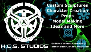 HCS Studios Business Card by BlackHoleInAJar