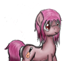 Iwasawa from Angel Beats (ponified) by gggfrt