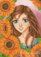 49. ACEO - Sunflowers by Michaela9