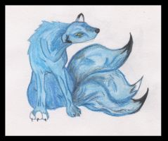 Three-Tailed Wolf by Kif3