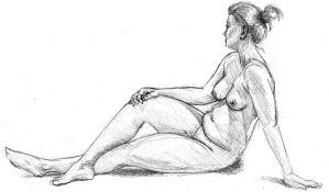 Life Drawing 003 by tryanart