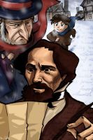 Charles Dickens, Scrooge and Oliver Twist by Celtilia