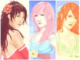 Fang, Lightning and Vanille by Zolaida