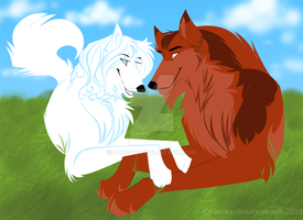 Firefang n Eclipse- Commission by Faeora