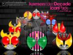 Kamen Rider Decade Icon Pack by saiko-raito