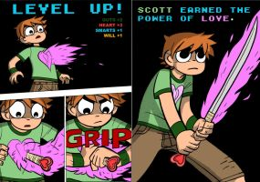 Scott Pilgrim - Scott Earned the Power of Love by shagfu