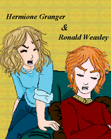 Ron and Hermione by inespott