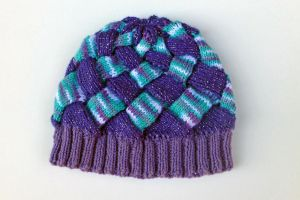Entrelac Knitted Hat (Made by my mom) by MilesofCrochet