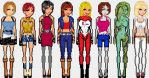 Resident evil girls alternate outfits by ShadyDarkGirl