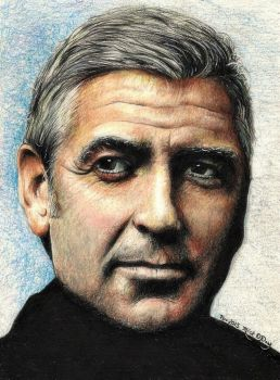 George Clooney by marmicminipark