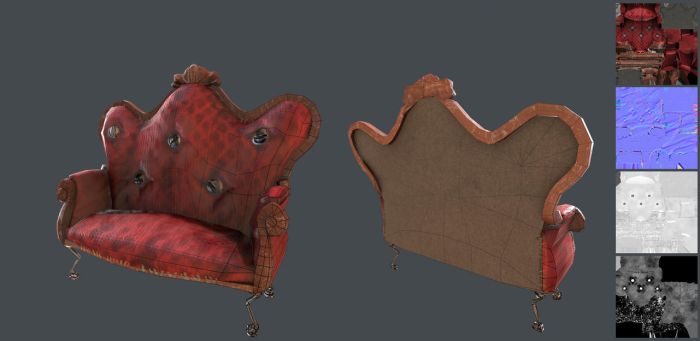 Stylised Victorian Couch by CentificGrafics