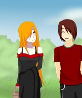 Gift:Akito and Neomie by xEndlessPain