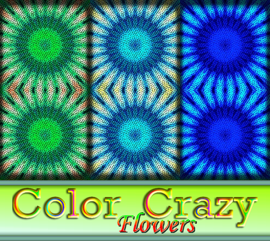 Color Crazy Flowers by allison731