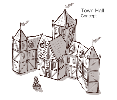 Town Hall Concept by Sun-Dragoness