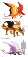Various Dragons by umbbe