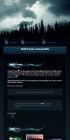 Wolf Forest Journal Skin v3 by sergbel