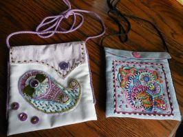 Embroidered and Beaded Paisley Purses DONE by WhiteAntCrawls
