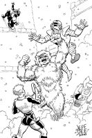 Dr. Yeti vs. C.H.E.S.S. Agents by JeffDee