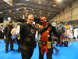 MCM Telford 2014 - Cable and Deadpool by MJ-Cosplay
