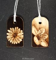 Flowers - mini woodburnings by brandojones