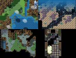 Fantasy Jrpg Tileset Work 02 by weremole