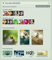 Mutual Widget Mockup by danlev