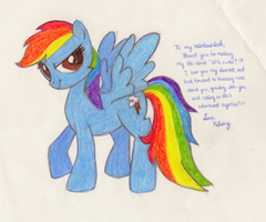 Rainbow Dash Drawing by Mwr247